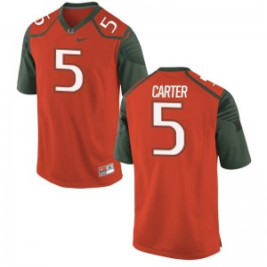 Amari Carter Hurricanes High School For Men Game Jersey - Orange