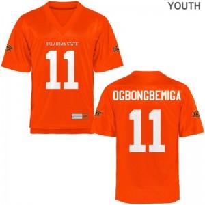 Amen Ogbongbemiga OK State University Youth(Kids) Game Jerseys - Orange
