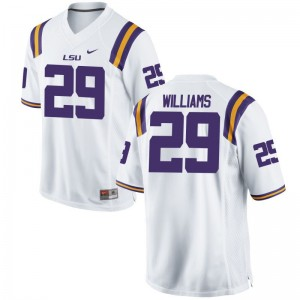 Andraez Williams LSU NCAA Mens Game Jersey - White