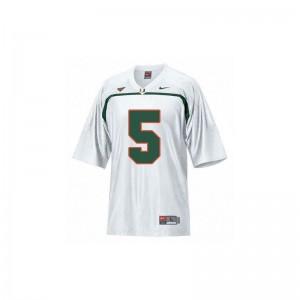Andre Johnson Miami Hurricanes University Men Game Jersey - White
