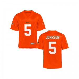 Andre Johnson Hurricanes High School Youth Game Jersey - Orange