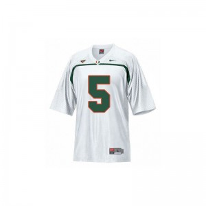 Andre Johnson Hurricanes Official Youth Limited Jersey - White