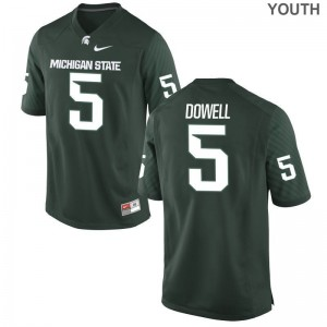 Andrew Dowell MSU NCAA Kids Game Jersey - Green