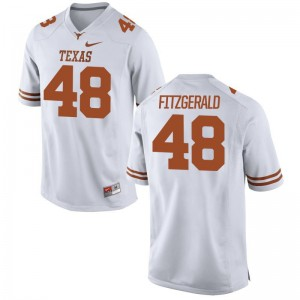 Andrew Fitzgerald Longhorns High School Mens Limited Jerseys - White