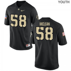 Andrew McLean Army Player Kids Game Jersey - Black