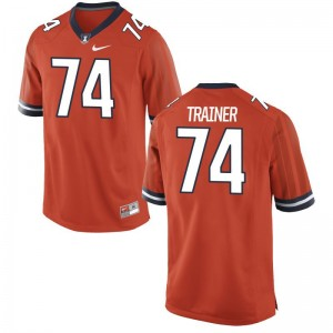 Andrew Trainer Fighting Illini NCAA Mens Game Jersey - Orange