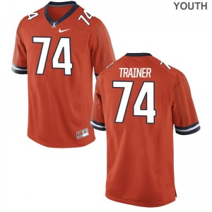 Andrew Trainer Illinois Fighting Illini College Kids Game Jerseys - Orange