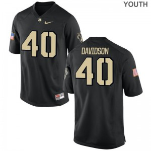 Andy Davidson Army Black Knights Football Youth Game Jerseys - Black