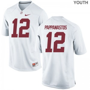 Andy Pappanastos Bama Player For Kids Limited Jerseys - White