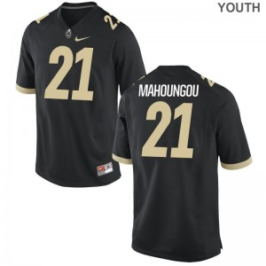 Anthony Mahoungou Purdue University College Youth Game Jerseys - Black