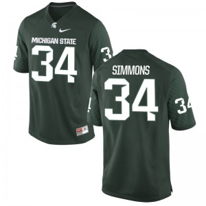 Antjuan Simmons Michigan State University Football For Men Game Jerseys - Green