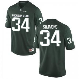 Antjuan Simmons Spartans Football Mens Limited Jerseys - Green