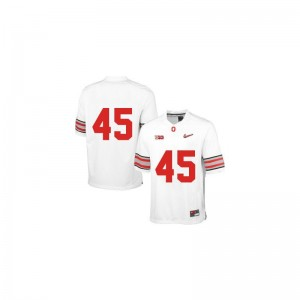 Archie Griffin Ohio State Buckeyes University Youth Game Jersey - White Diamond Quest Patch