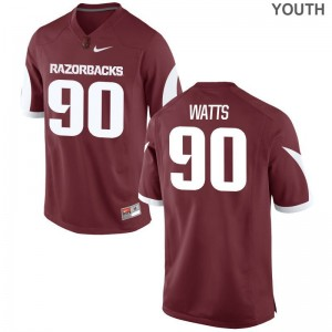 Armon Watts Arkansas NCAA Youth(Kids) Limited Jerseys - Cardinal