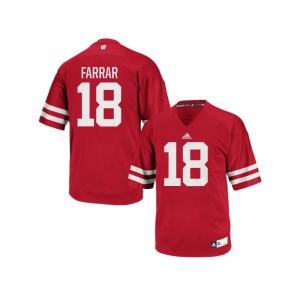 Arrington Farrar Wisconsin Badgers NCAA Men Authentic Jerseys - Red