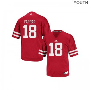 Arrington Farrar University of Wisconsin Player For Kids Authentic Jerseys - Red