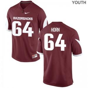 Audry Horn University of Arkansas Football Youth Game Jerseys - Cardinal