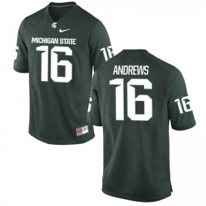 Austin Andrews Michigan State Spartans Official For Men Game Jerseys - Green