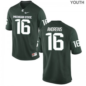 Austin Andrews Michigan State Spartans Official Youth(Kids) Limited Jersey - Green