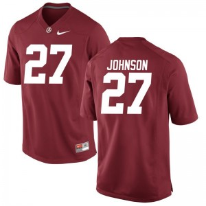 Austin Johnson University of Alabama College Men Game Jerseys - Red