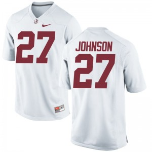 Austin Johnson Bama Player Mens Game Jersey - White