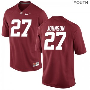 Austin Johnson Bama High School Youth(Kids) Limited Jersey - Red