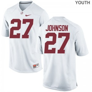 Austin Johnson University of Alabama College Kids Limited Jerseys - White