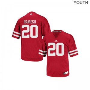 Austin Ramesh University of Wisconsin High School Youth(Kids) Authentic Jersey - Red