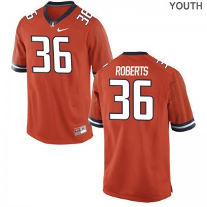 Austin Roberts UIUC Player Kids Game Jerseys - Orange