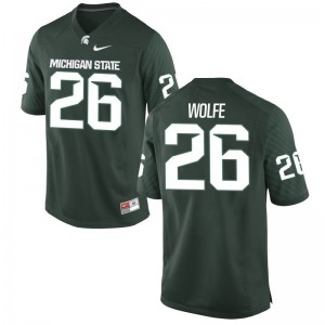 Austin Wolfe MSU College Youth(Kids) Game Jersey - Green