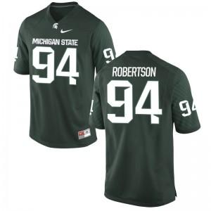 Auston Robertson Michigan State University Kids Game Jersey - Green