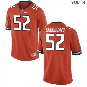 Ayo Shogbonyo Illinois NCAA Youth(Kids) Game Jerseys - Orange