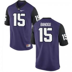 Ben Banogu Texas Christian University Official Mens Game Jersey - Purple Black