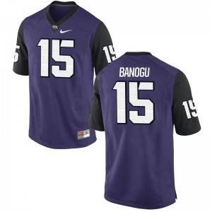 Ben Banogu Texas Christian Player Mens Game Jersey - Purple Black