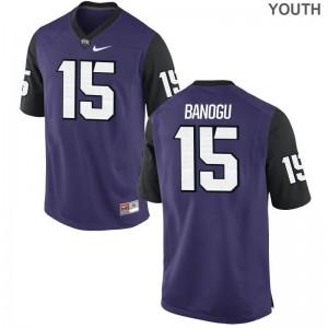 Ben Banogu Horned Frogs NCAA Kids Game Jersey - Purple Black