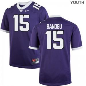 Ben Banogu TCU Horned Frogs NCAA For Kids Game Jerseys - Purple