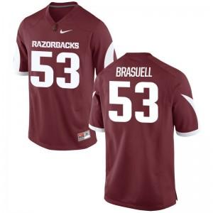 Ben Brasuell Arkansas University For Men Game Jersey - Cardinal