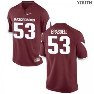 Ben Brasuell Arkansas University Kids Game Jersey - Cardinal