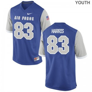 Ben Harris Air Force Falcons Player For Kids Limited Jersey - Royal