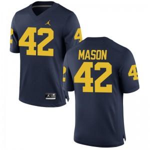 Ben Mason Michigan University Mens Game Jersey - Jordan Navy
