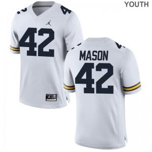 Ben Mason Michigan Wolverines NCAA For Kids Limited Jersey - Jordan White