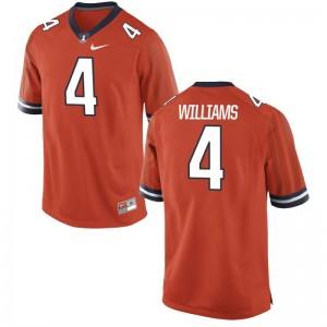 Bennett Williams University of Illinois College Men Game Jerseys - Orange