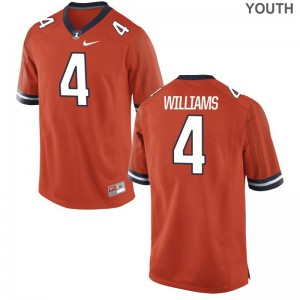 Bennett Williams Illinois University Kids Game Jerseys - Orange