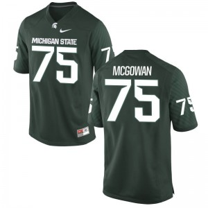 Benny McGowan Michigan State Football Mens Game Jersey - Green
