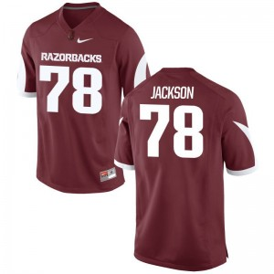Bijhon Jackson Arkansas Razorbacks Football For Men Game Jersey - Cardinal