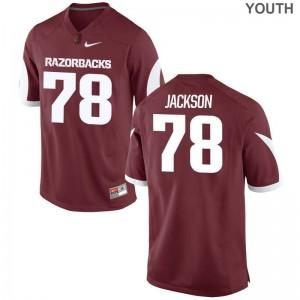 Bijhon Jackson University of Arkansas Football Youth Limited Jerseys - Cardinal