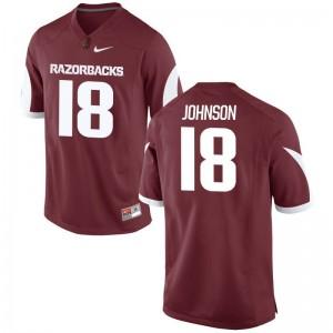 Blake Johnson Arkansas High School Mens Limited Jerseys - Cardinal