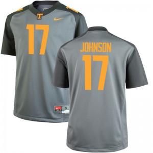 Brandon Johnson Tennessee Vols College Men Game Jerseys - Gray
