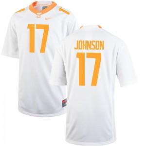 Brandon Johnson Tennessee NCAA Mens Limited Jerseys - White