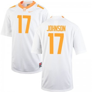 Brandon Johnson Tennessee Volunteers University For Kids Game Jersey - White